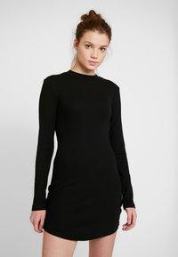 Even&Odd - BASIC - Vestito di maglina - black - 0