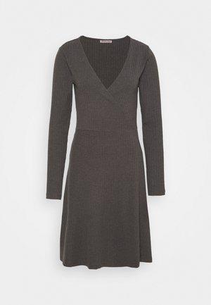 Vestido de punto - mottled dark grey