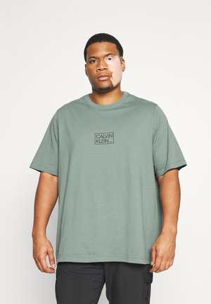 CHEST BOX LOGO  - Print T-shirt - balsam green