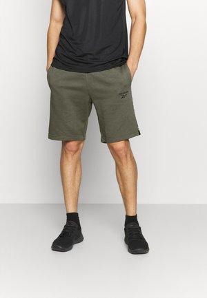 TAPE SHORT - Sports shorts - army green