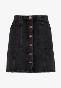 New Look - PATCH POCKETE CARAMEL  - Denim skirt - black - 3