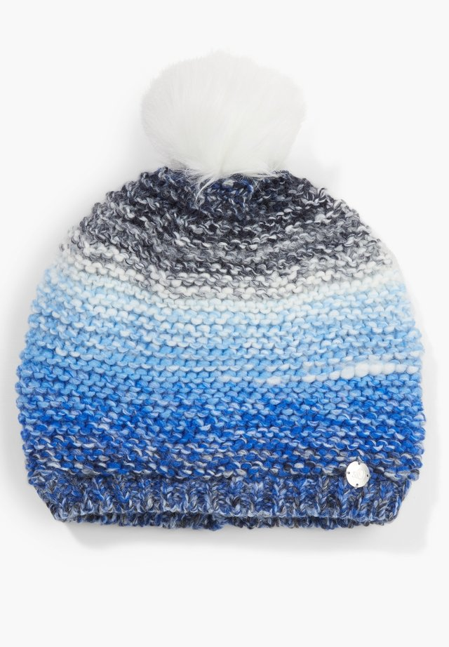 MIT FLEECE-FUTTER - Beanie - dark blue aop