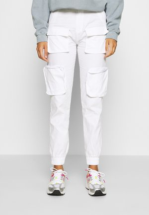 MULTIPLE POCKET - Cargo trousers - offwhite