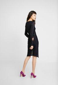 AllSaints - RINA GLITZ WRAP DRESS - Strikket kjole - ink blue - 0