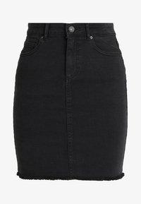 Pieces - PCAIA SKIRT  - Pencil skirt - black denim - 3