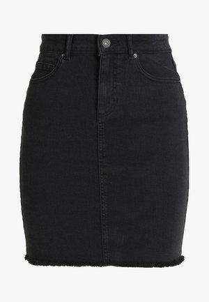 PCAIA SKIRT  - Pencil skirt - black denim