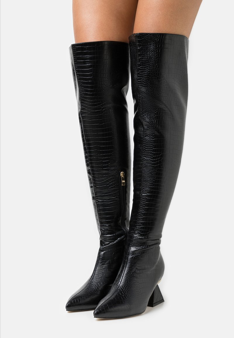 RAID Wide Fit - WIDE FIT SPIRAL - Over-the-knee boots - black