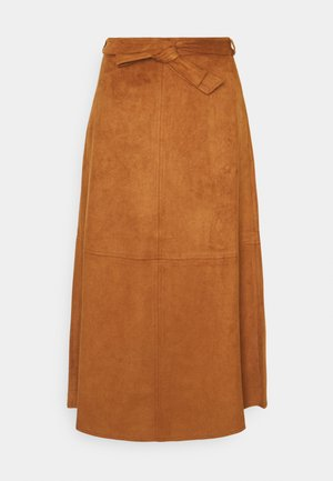 A-line skirt - peanut brown