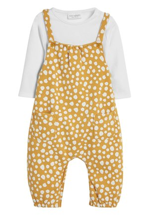 OCHRE SPOT DUNGAREE AND BODYSUIT SET (0MTHS-2YRS) - Body - yellow