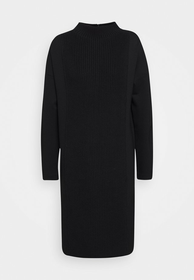 QUNOLA - Jersey dress - black