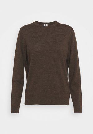 SWEATER - Svetr - brown dark