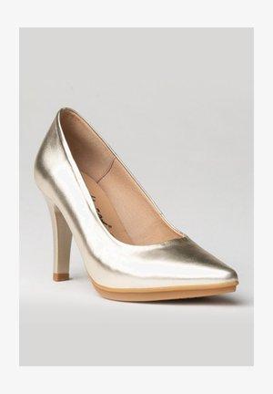 Zapatos altos - platino