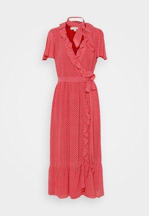 PRINTED MIDI DRESS - Day dress - crimson