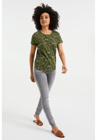 WE Fashion - Print T-shirt - army green - 1