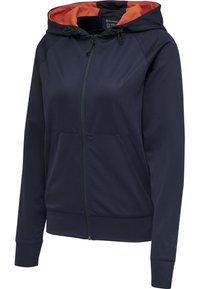 Hummel - Zip-up hoodie - dark sapphire/fiesta - 2
