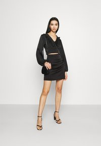 Missguided - SKIRT  - Mini skirt - black - 1