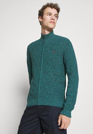 Cardigan - mottled dark green
