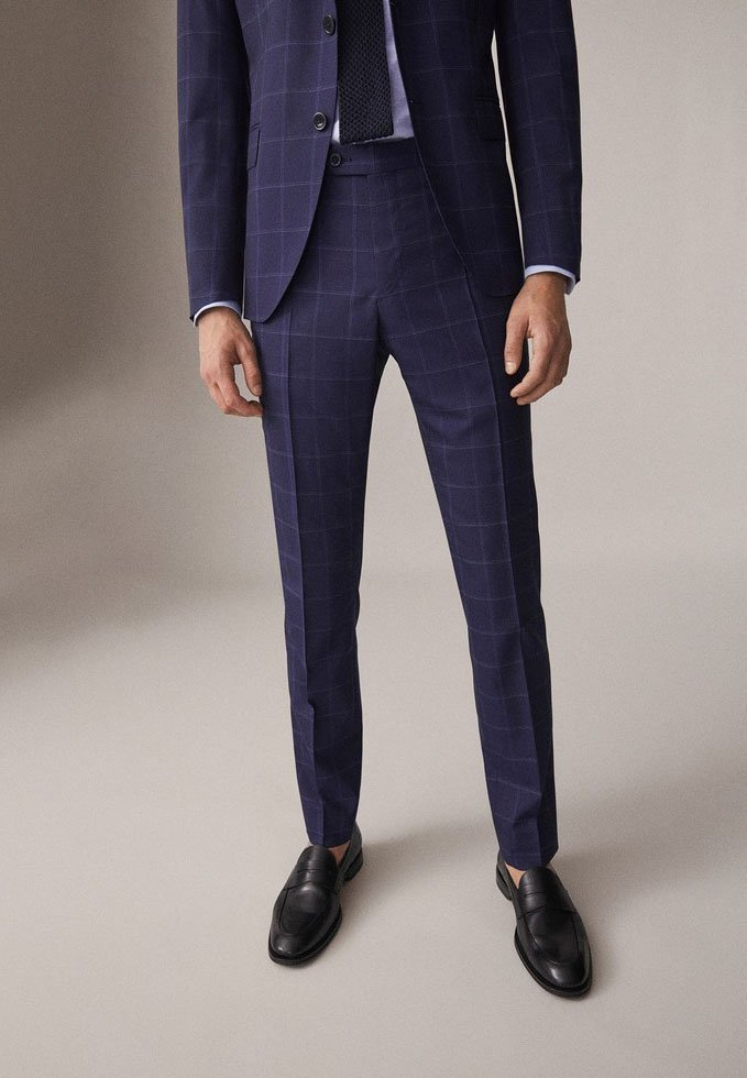 Massimo Dutti - Suit trousers - blue
