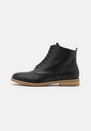 LEATHER - Kotníková obuv - black