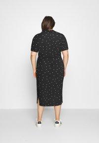 ONLY Carmakoma - CARLUXMILA CALF SHIRT DRESS  - Day dress - black/white - 2
