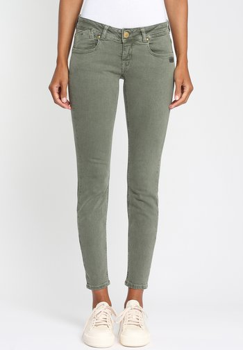 Jeans Skinny Fit - green eco military