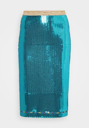 GONNA - Pencil skirt - blue