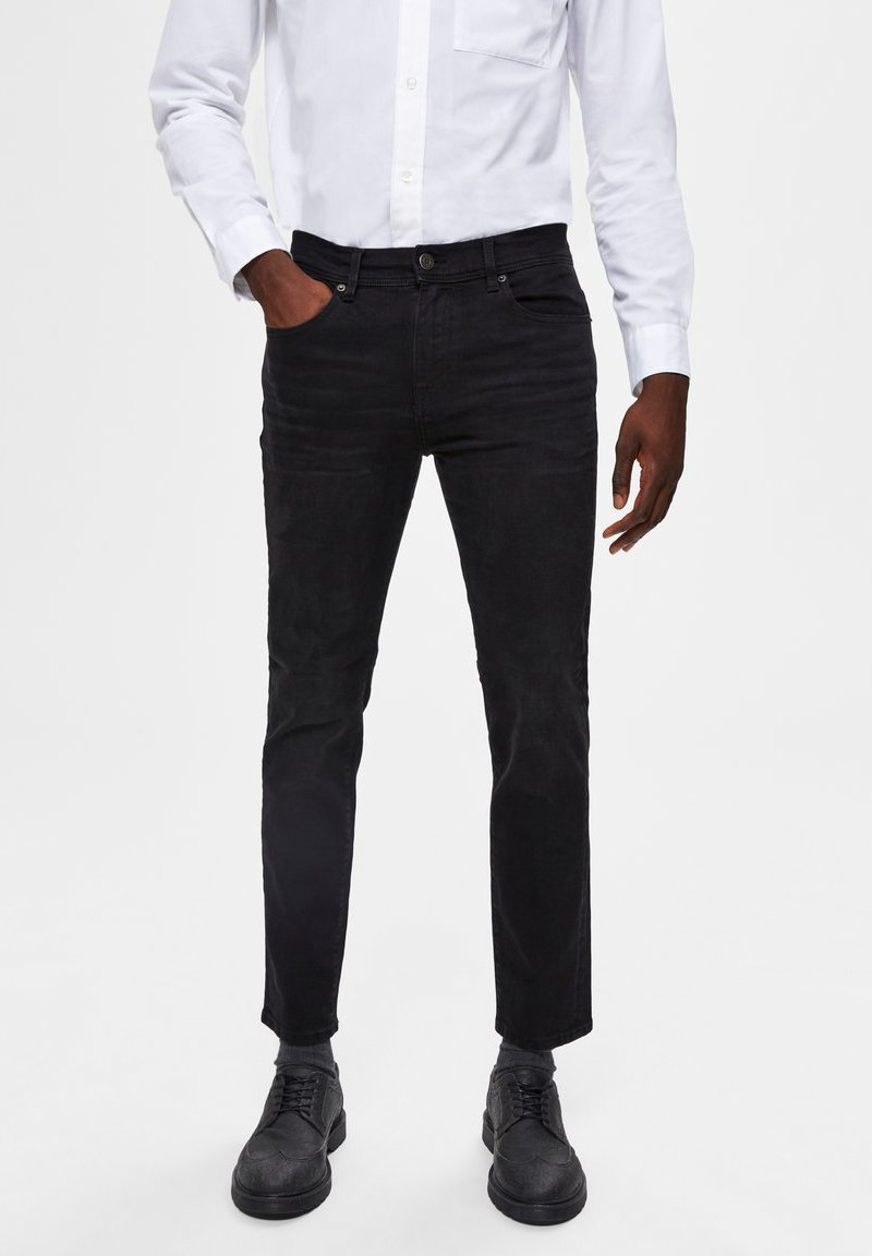 Selected Homme - Slim fit jeans - black denim