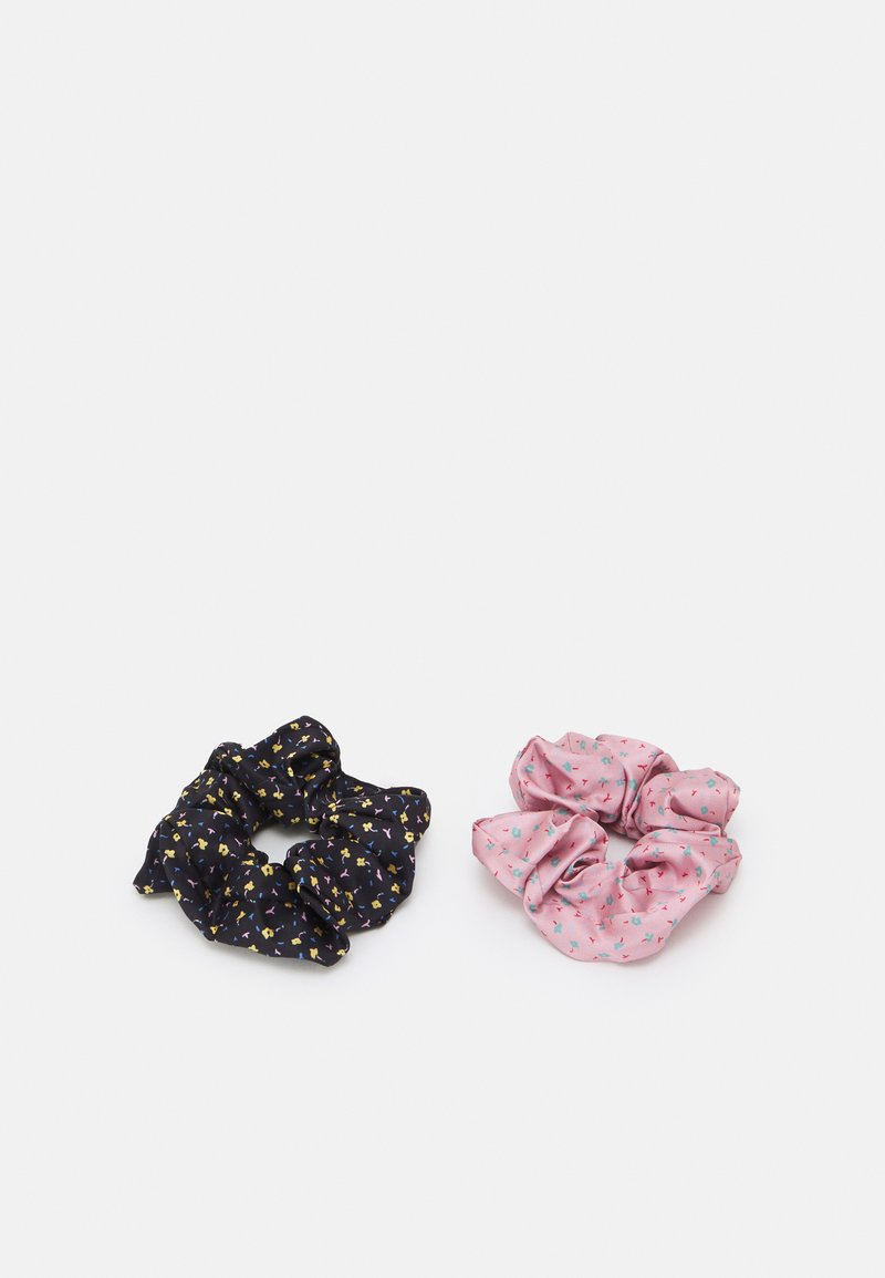 Becksöndergaard - PICOLA SCRUNCHIE 2 PACK - Hair styling accessory - jet black