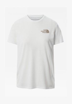W FOUNDATION GRAPHIC TEE - EU - Print T-shirt - tnf white