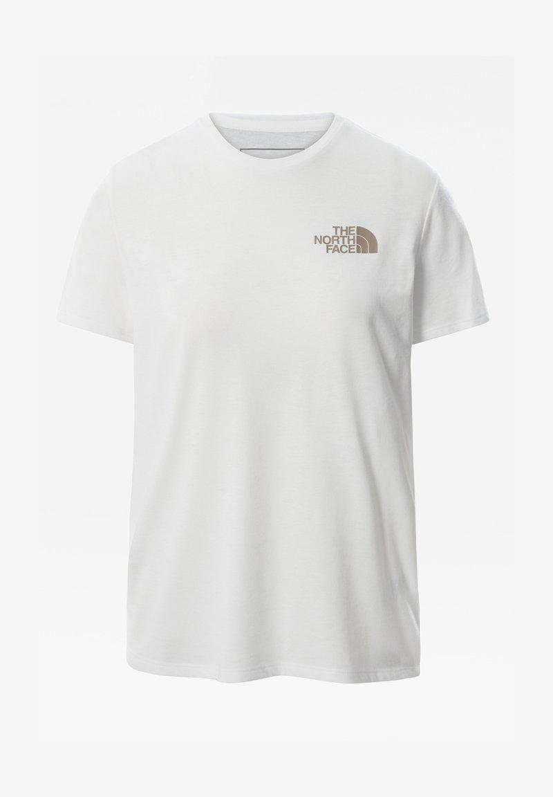 The North Face - W FOUNDATION GRAPHIC TEE - EU - T-shirt imprimé - tnf white