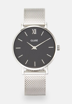 MINUIT - Klokke - silver-coloured/black