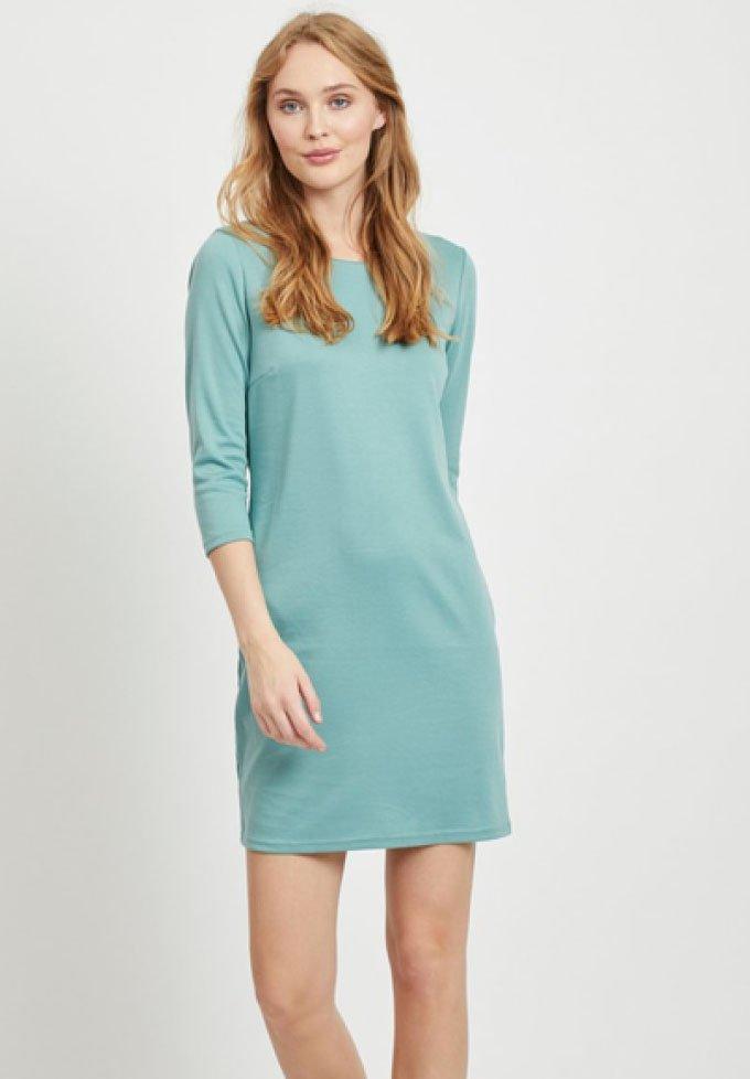 Vila - VITINNY - Day dress - mottled light blue