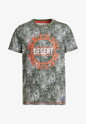 Print T-shirt - army green