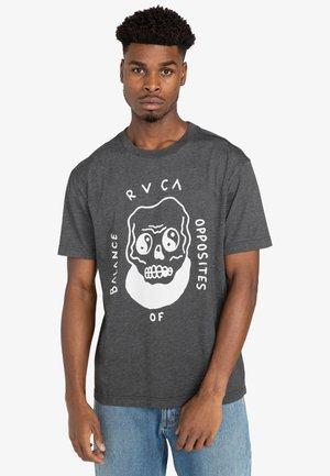 Print T-shirt - dark charcoal