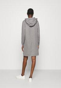 Calvin Klein - HOODED DIAMANTE DRESS - Day dress - mid grey heather - 2