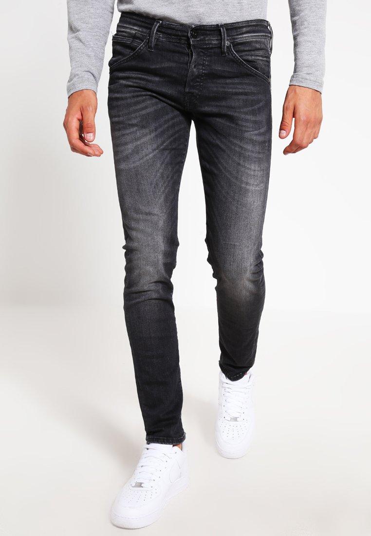 Men JJIGLENN JJFOX  - Slim fit jeans - black denim