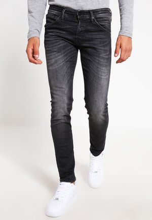 JJIGLENN JJFOX  - Jeansy Slim Fit - black denim