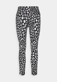 L'urv - SHARP CONTRAST LEGGING - Leggings - black - 1