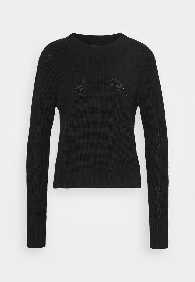 NAZCA JUMPER - Strikkegenser - black