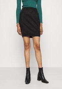 Vero Moda - VMCAVA SKIRT - Mini skirt - black - 0