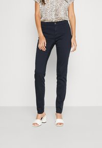 NAF NAF - POWER SKINNY - Trousers - bleu marine - 0