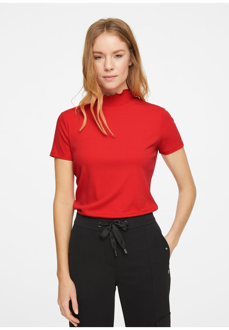 comma - Basic T-shirt - red