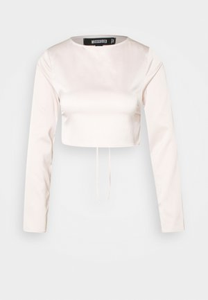 OPEN BACK LONG SLEEVE CROP - Topper langermet - blush