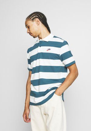 STRIPE - Polo shirt - ash green/sail
