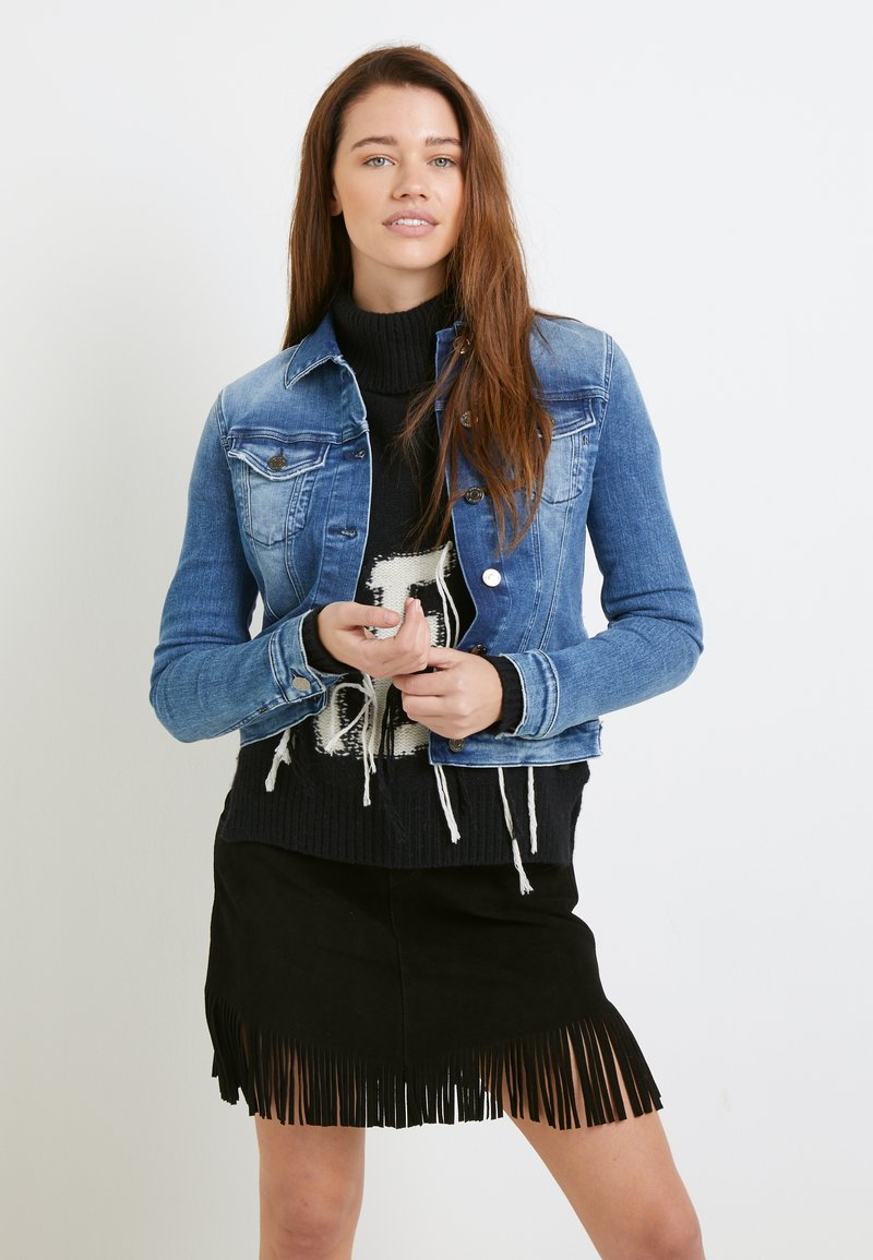 Replay - JACKETS LIGHTWEIGHTS - Denim jacket - medium blue