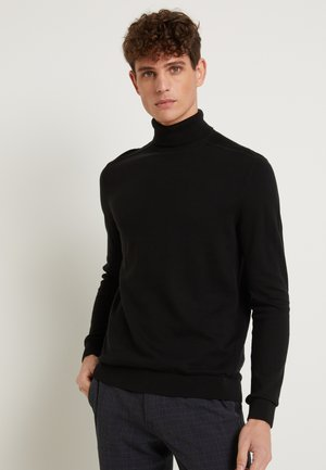 SLHBERG ROLL NECK - Strikkegenser - black