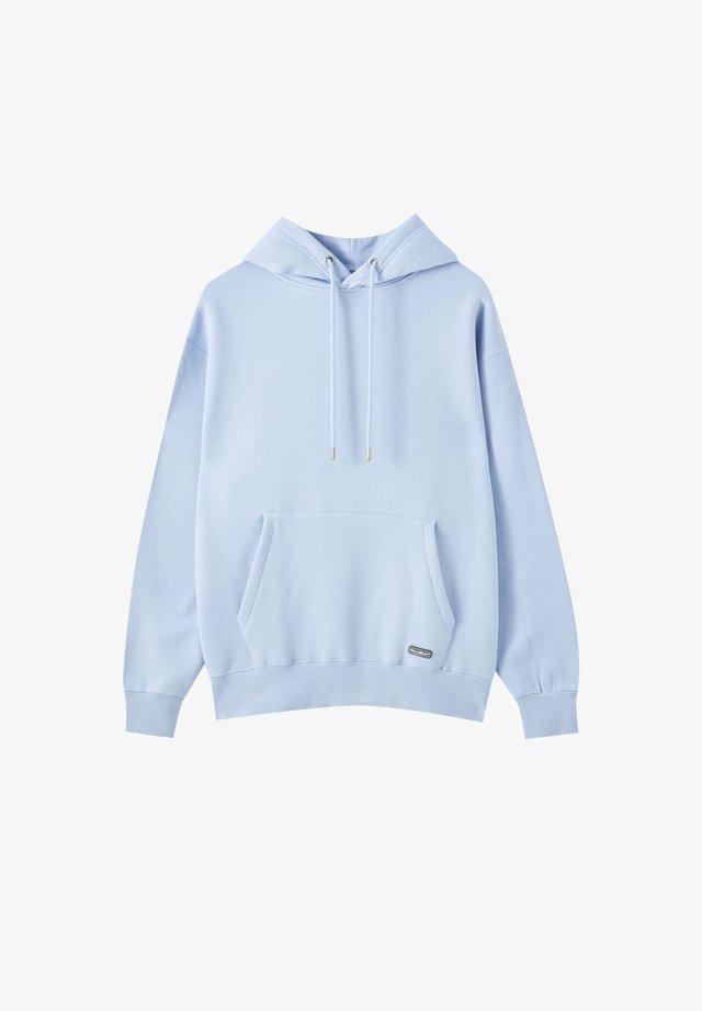 Hoodie - neon blue