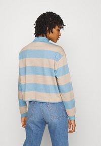 Monki - Long sleeved top - blue light/beige light - 2