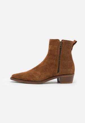 NALENIA - Classic ankle boots - cognac