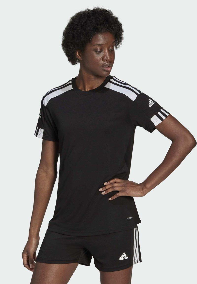 adidas Performance - SQUADRA 21 - Camiseta estampada - black/white
